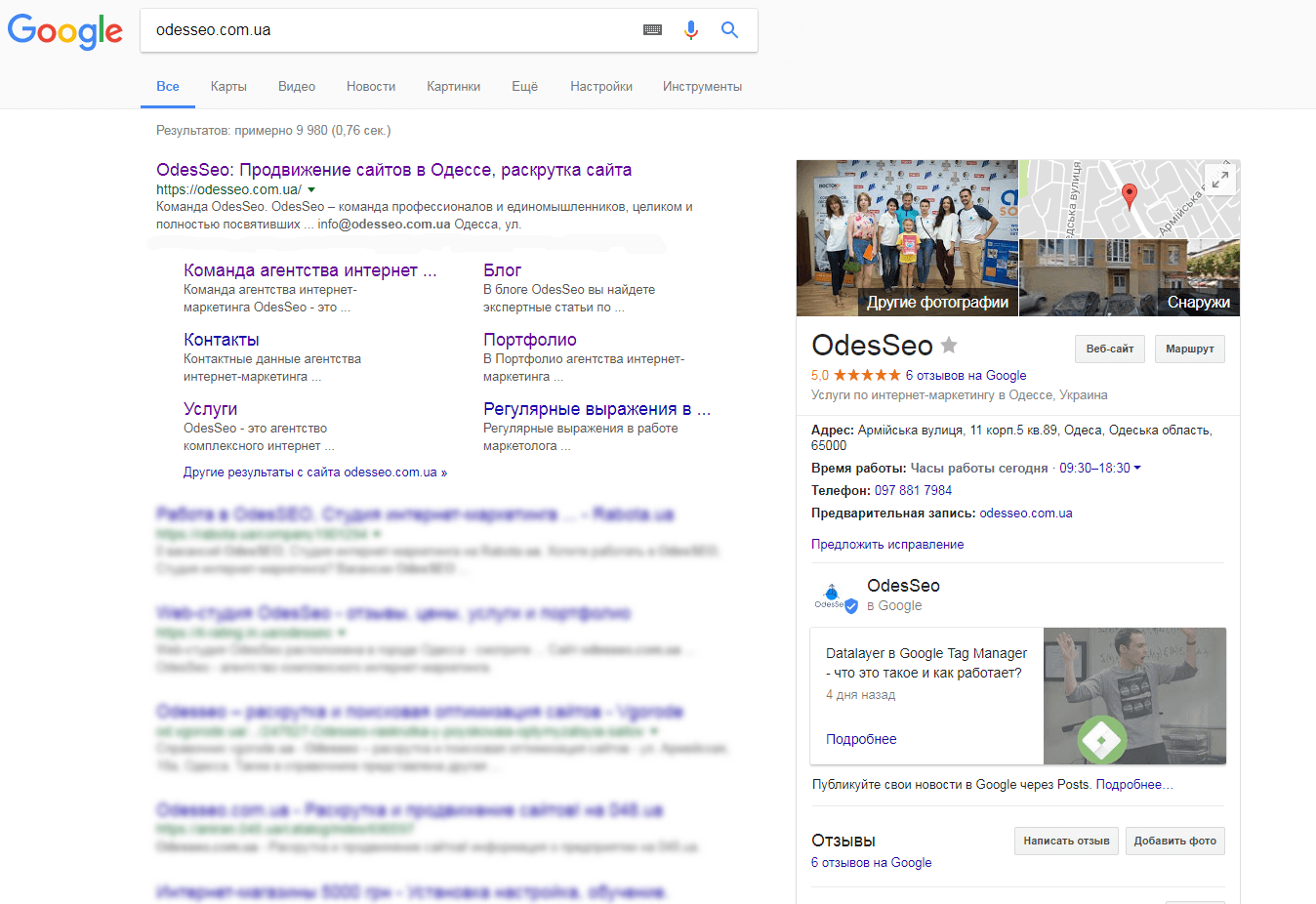 Функции Google Business