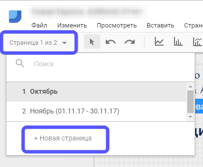 функции блока админ панели отчета Google Data Studio