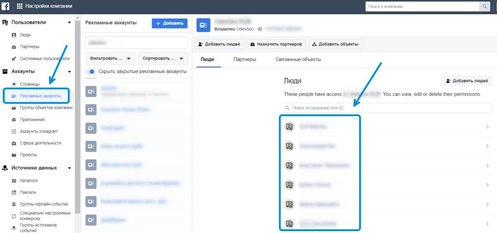 Доступ к ресурсу в Facebook Business Manager