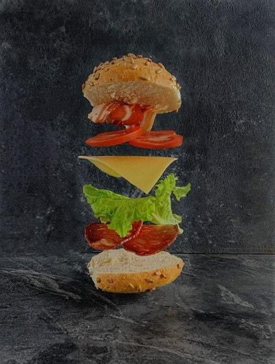 Левитационное фото Бургер