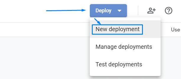 Deploy – New deployment