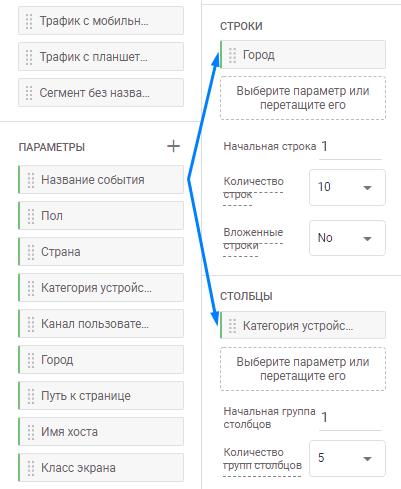 Добавление параметра к отчету